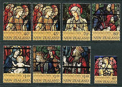 1995 New Zealand Mnh Sg 1916-1923 Christmas Commemorative Stamp Set