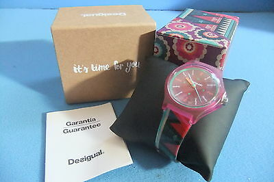 "Spanish designer 'Desigual' Ladies Watch ""It's Time For You"" *New In Gift Box"