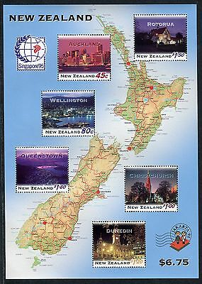 "1995 New Zealand Mnh Sg Ms1915 ""singapore `95"" Stamp Exhibition Miniature Sheet"