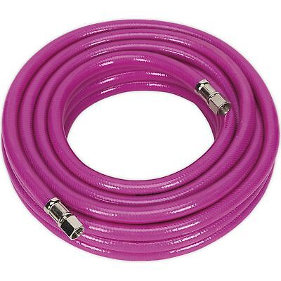 "Sealey Pink 10m High Visibility Air Hose 8mm Bore 1/4"" BSP Female Unions"