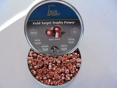 H AND N field target trophey power .22 x 200 pellets.