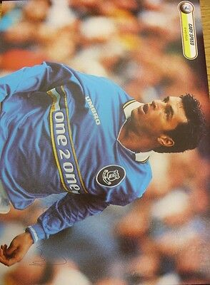 1990/2000's Autograph: Everton - Speed, Gary [Hand Signed Colour Magazine Pictur