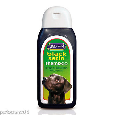 Johnsons Black Satin Dog / Cat Shampoo for Black & Dark Coats 200ml g041