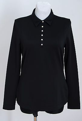 Womens Callaway Golf Top Long Sleeved Black Size L Large Excellent