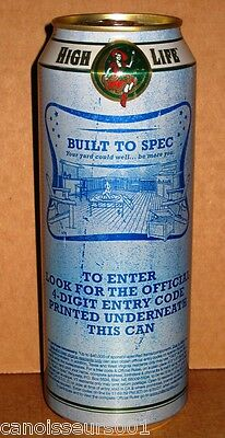 MILLER HIGH LIFE 24 oz Beer Can Blowout #2 - BUILT TO SPEC