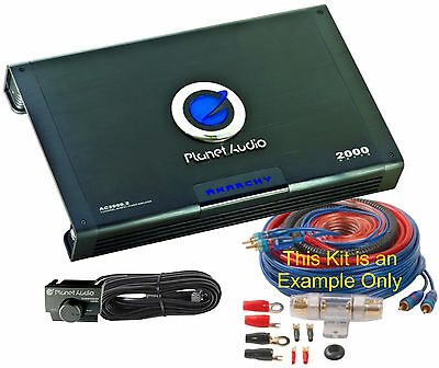 AC2000.2 PLANET AUDIO Two-Channel Power Amplifier, 2000 Watts with Install Kit