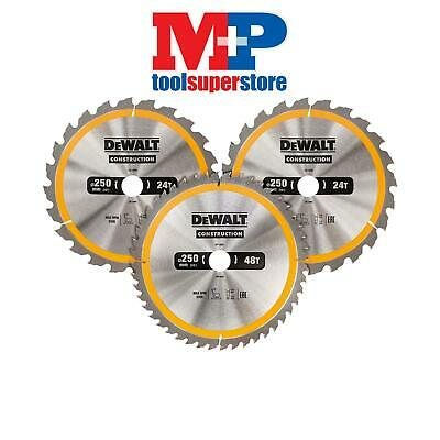 DEWALT DT1963 Saw Blade 250mm **PACK OF 3** FOR TABLE SAW DW744 DW745