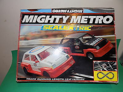SCALEXTRIC MIGHTY METRO Vintage 1980s Racing Set Boxed Untested