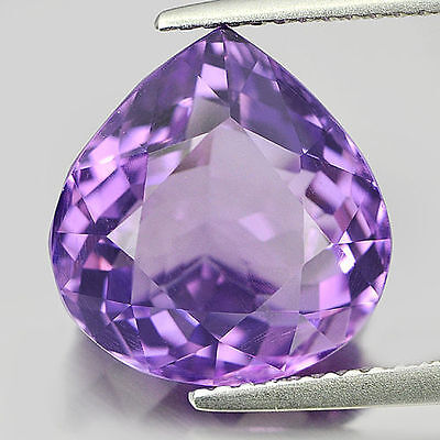 5 PIECES OF 4x3mm PEAR-FACET NATURAL BRAZILIAN AMETHYST GEMSTONES £1 NR!