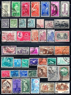 INDIA Stamps Assorted Lot of 45