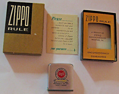 NOS VINTAGE UNITED STATES STEEL OLIVER IRON MINING Co ZIPPO TAPE MEASURE IN CASE