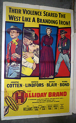 THE HALLIDAY BRAND poster VIVECA LINDFORS/BETSY BLAIR original one sheet 27x41