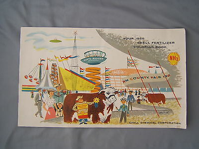 Vintage 1958 Shell Oil Advertising Book POP UFO Flying Saucer Space Age Farming