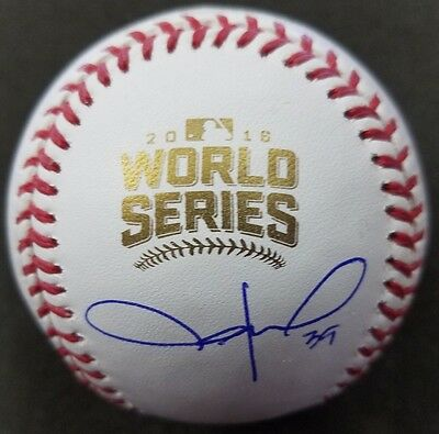 Jason Hammel Cubs Autographed Official 2016 World Series Baseball Beckett