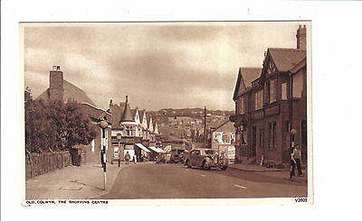 Vintage  Postcard.Old Colwyn,The Shopping Centre.c1950's