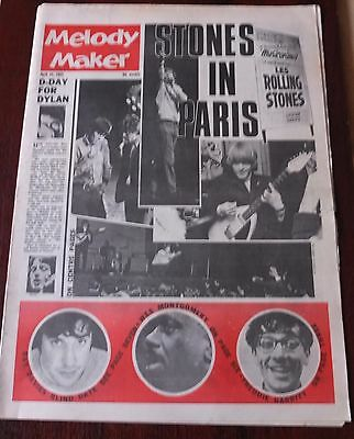 Melody Maker April 24 1965 Stones Dylan Kinks Artwoods Seekers Montgomery Briggs