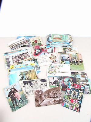 Whole Bunch of Mixed Vintage Post Cards