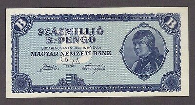 1946 100 Quintillion Pengo Hungary Unc Banknote Largest Denomination Note Bill