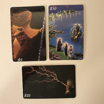 PROMO CARDS: CHAMPS MANUFACTURING Sample Phone Cards: 3 DIFFERENT Tim White Art