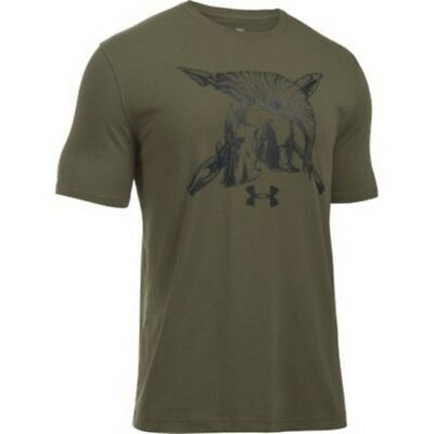 Under Armour 1290432 Men's Green Cotton Freedom Spartan T-Shirt X-Large