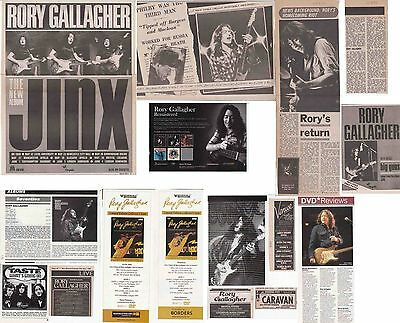 RORY GALLAGHER : CUTTINGS COLLECTION -adverts etc-