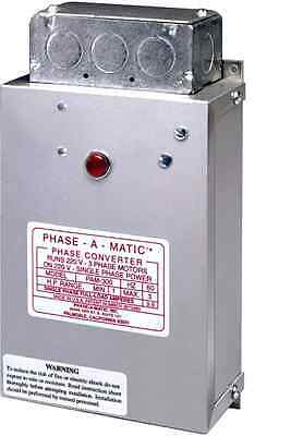 Phase-A-Matic Static Phase Converter Horse Power 1/3-3/4 PAM-100