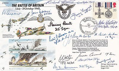 40/6a 50th Anniv Battle of Britain Signed by 14 Battle of Britain Pilots, Crew,