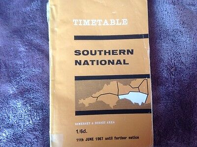 Southern National Omnibus Timetable 1967