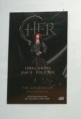 Cher Final Shows Las Vegas Casino & Hotel Caesars  2011 W/ Promo Gift