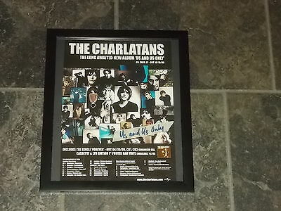 The Charlatans-Us and only us-original advert framed