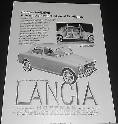 1960 LANCIA Appia Sedan Series III Advert new definition of excellence