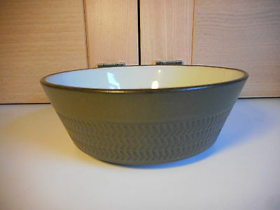Denby Chevron Camelot Olive Green 5 3/4 Inch 3 Band Bowl 1960's