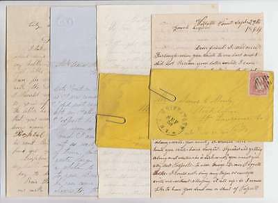 B8443: 4 Civil War Soldier's Letters, Wounded in Action