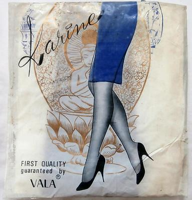BNIP Vintage 1960's Dk Brown Seamless Nylon Stockings by Vala Sz Small Goodwood