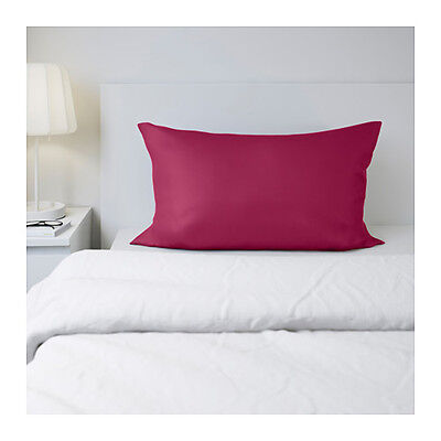 IKEA SOMNIG - Set of 2 Pillowcases Dark Pink Lyocell Cotton Queen or King Size