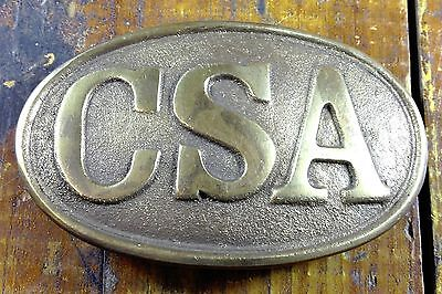 Civil War Style Csa Confederate Military Reproduction Oval Brass Belt Buckle