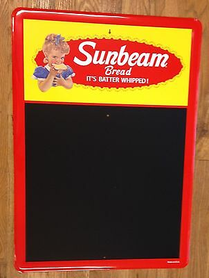 Sunbeam Bread Large Metal General Store Advertising Sign With Chalkboard Surface