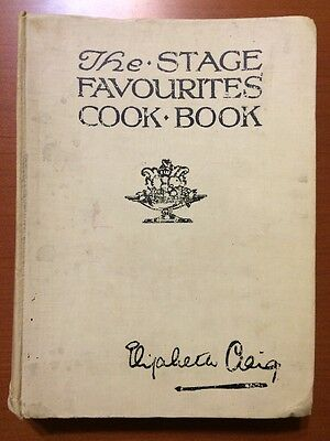 The Stage Favourites Cook Book Elizabeth Craig 1923 Recipes From 1920s Actresses