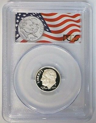 2015 W 10C Silver Proof Dime March of Dimes Set PCGS PR70DCAM First Strike Flag