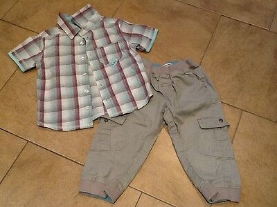 VERTBAUDET Baby Boys Trouser / Shirt Outfit 2 Years