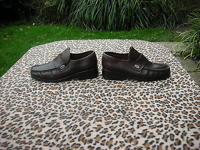 Vintage Base mens Brown leather shoes Made in Italy UK size 10.5  EU 45