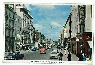 Post Card Color Photo O` Connell Street, Limerick City, Ireland