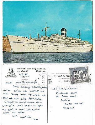Post Card Color Photo Cruise Ships The S.s. Nevasa