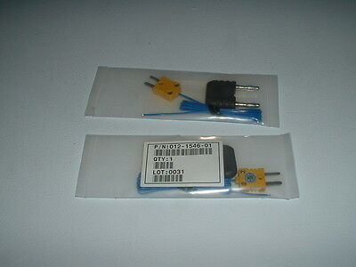 Type K Thermocouple Bead Probes, 2 each, with DMM adapters, NIB,