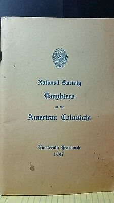 National Society Daughters of the American Colonist, 1947 Yearbook