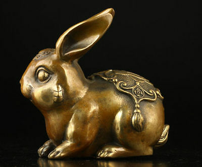 Collectable Vintage Old Brass Casting Cute Hare Statues