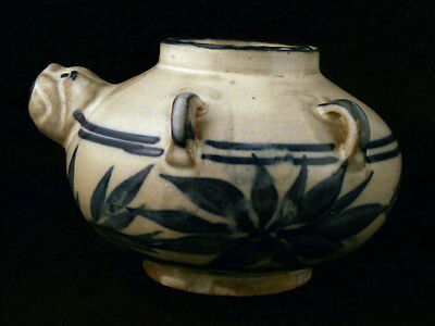 Beautiful Chinese Song Dy Blue & White Porcelain Pot N130