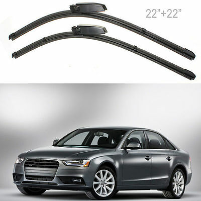 "Pair 22"" Left Right Windscreen Wiper Blade For Audi A4 A6 2001-2008 MA176"