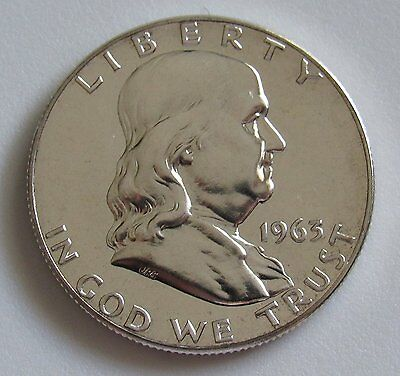 1963-P PROOF Franklin Silver Half Dollar - 90% Silver