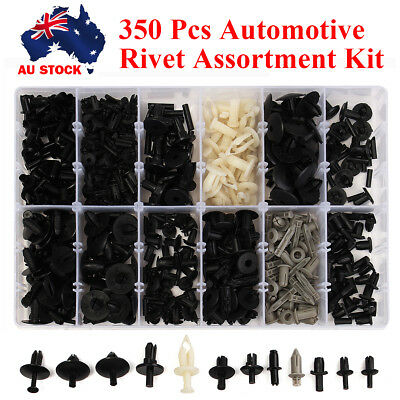350Pcs 12 Sizes Car Push Pin Rivet Trim Clip Panel Interior Moulding Assortment